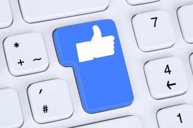 Like Button Icon Icon Thumbs Up Social Media and Social Network on the Internet