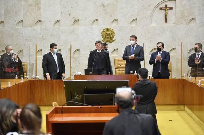 O ministro Luiz Fux assume a Presidência do Supremo Tribunal Federal (STF) após nove anos de atuação na Corte.  Foto: Marcos Brandão/Senado Federal