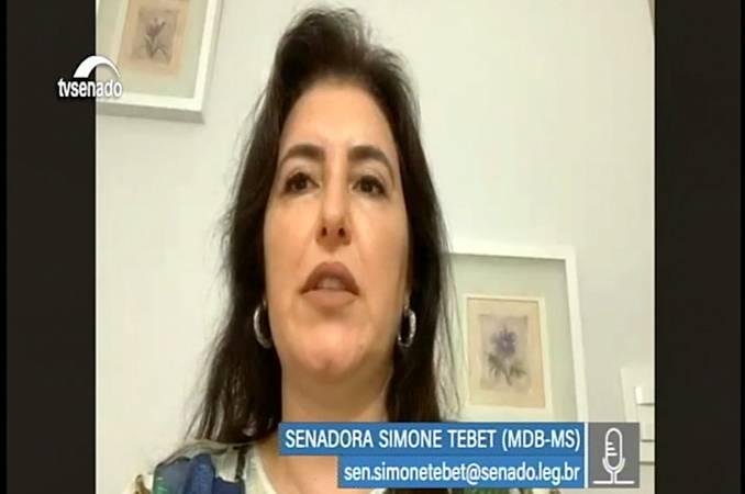 Captura da transmissão, pela TV Senado, da Comissão do Pantanal.