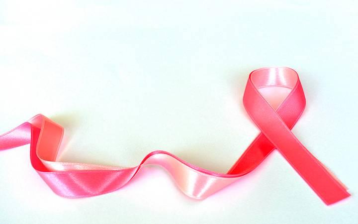 Laço rosa, símbolo da campanha Outubro Rosa.