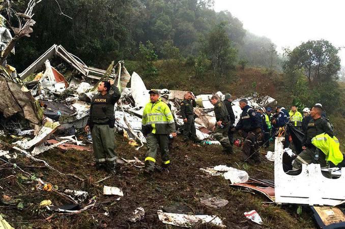 Aviao que transportava a equipe da Chapecoense cai na Colombia. Foto Cr Wilson Pardo @Policiantioqui