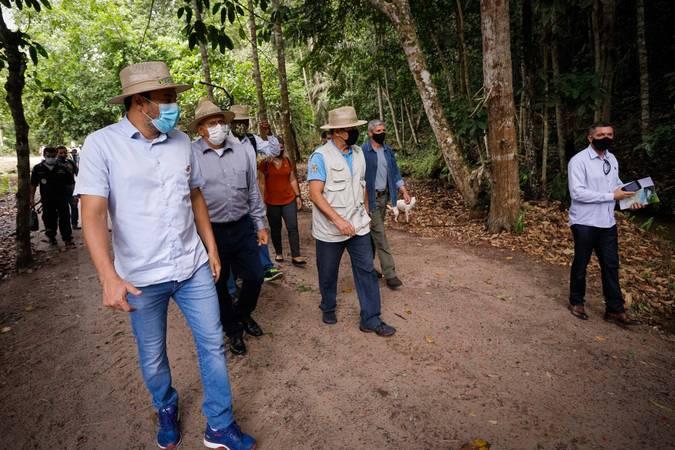 (Iranduba-AM, 05/11/2020) Vice-Presidente da República, Hamilton Mourão durante Visita à Fazenda Santa Rosa.  Foto: Romério Cunha/ VPR