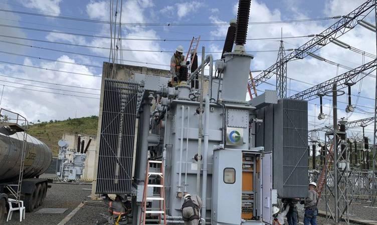 Transformador que parou de funcionar e causou o apagão de energia no Amapá.