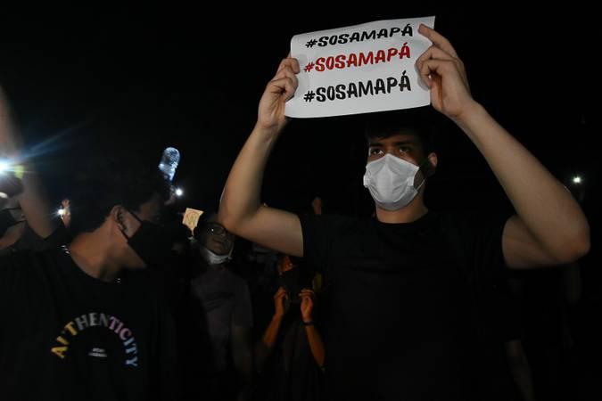 Macapá 11-11-2020 Protestos em frente à sede do governo do Amapá (Foto: Rudja Santos/Amazônia Real)