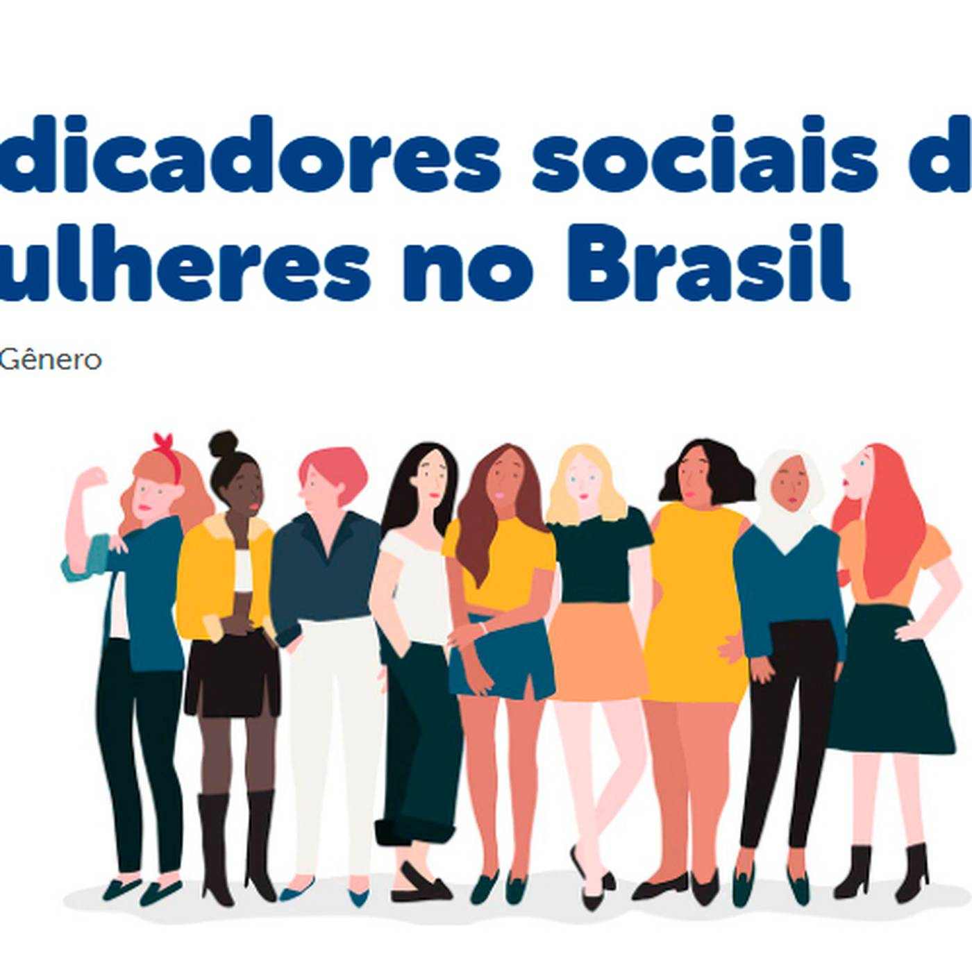 Indicadores Sociais da Mulher no Brasil