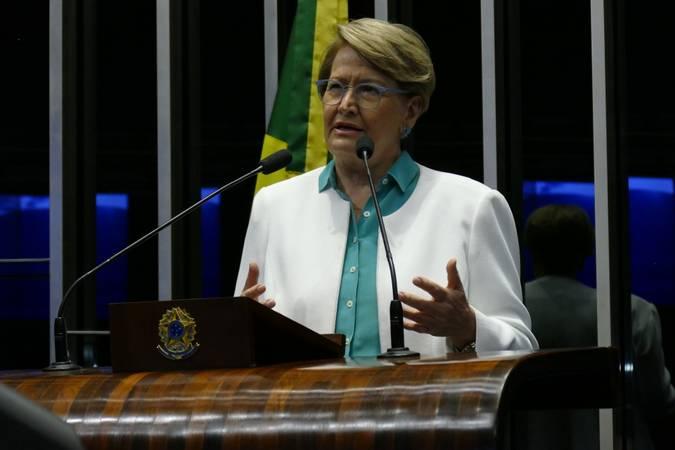 Plenário do Senado Federal durante sessão deliberativa ordinária.   Em discurso, à tribuna, senadora Ana Amélia (PP-RS).  Foto: Roque de Sá/Agência Senado